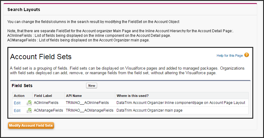 settings search layout